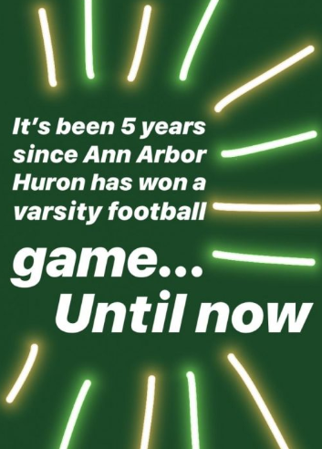 First football win in five years: Huron reacts