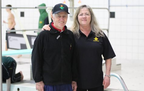 Olympic coach and daughter working with Huron divers