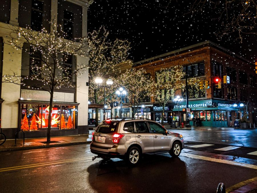 Downtown at night: Winter edition