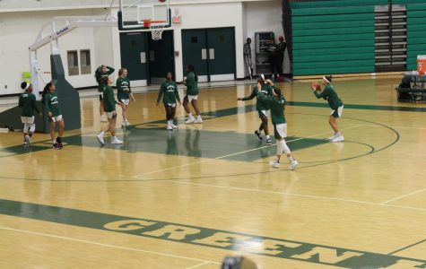 Huron Women's Basketball Team warms up for their game against Wayne Memorial in Ann Arbor, Tuesday, Dec. 10, 2019.
