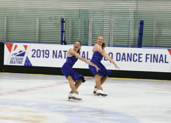Junior Salome Mouliere(left) competing with her teammate during a national competition.
