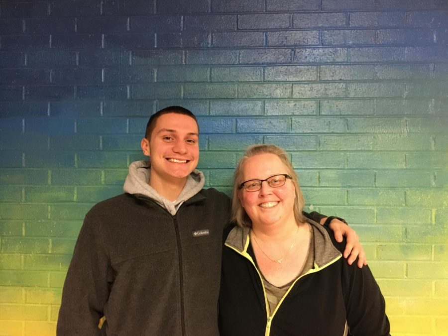 Junior Seth Sablack(left) with his Career Program Core teacher Ms. Garrett.