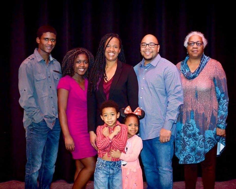 Senior Aaron Garrett(far left) with his family.