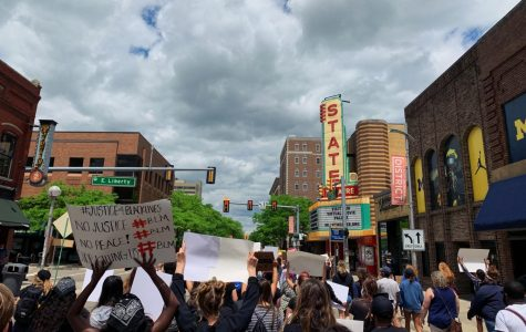 The Black Lives Matter protests held in Ann Arbor on May 30.