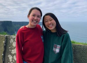 Kaye Hoffmeyer (pictured left) first reached out to Allison Choe (pictured right) about raising money for the Black Lives Matter movement.