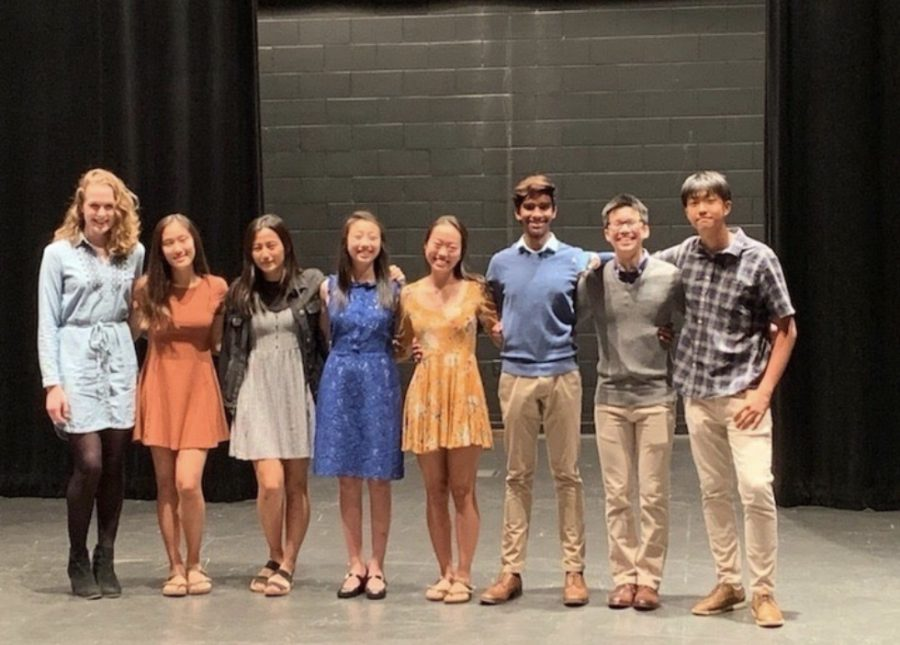 NHS' 2020 board (left) and 2021 board (right) at the induction ceremony.