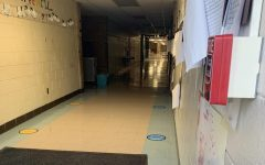 The halls of Logan Elementary school have been marked with social distancing stickers. This is one of many initiatives pushed by Ann Arbor Public Schools to work towards in-person schooling.
