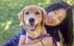 Nancy Liu with her dog, Maple, last summer.