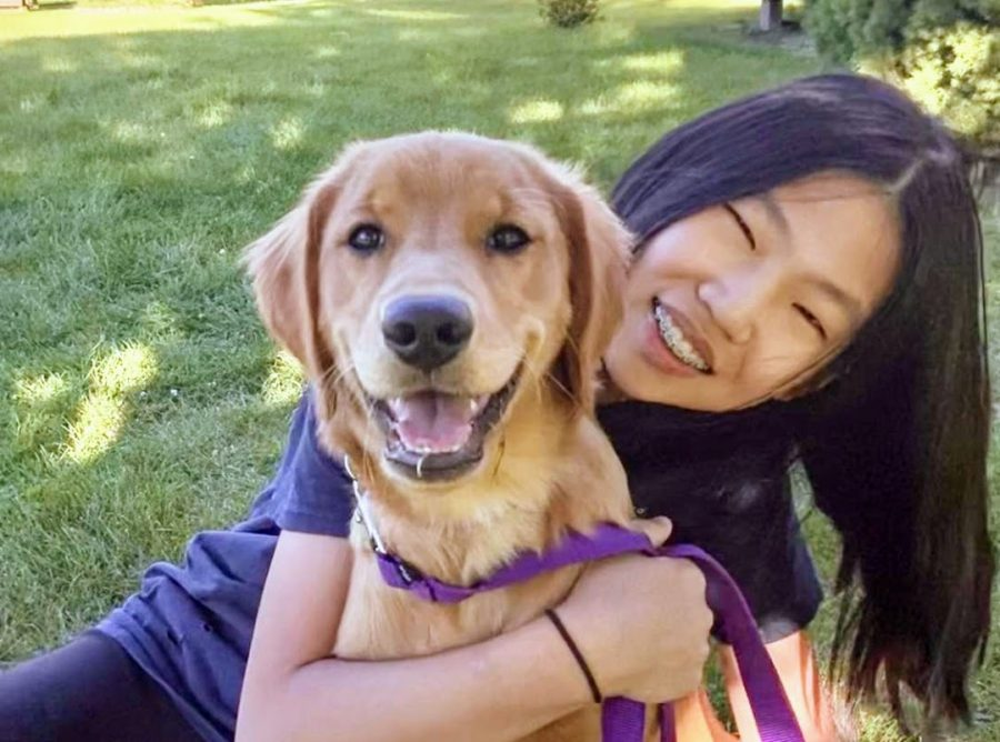Nancy Liu with her dog, Maple, last summer.