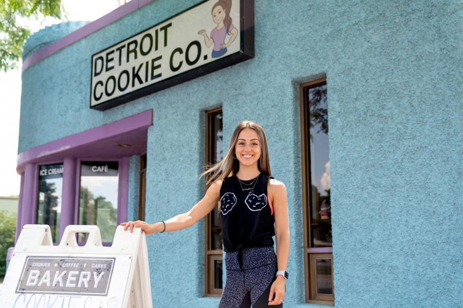 Owner+Lauren+Roumayah+stands+in+front+of+the+Detroit+Cookie+Company+store+in+Ferndale.+Recently%2C+the+second+location+in+Ann+Arbor+opened.