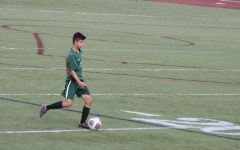 Nick Yiu is part of Huron's soccer team. Pictured he is in a game against Saline, where Huron scored 2-1.