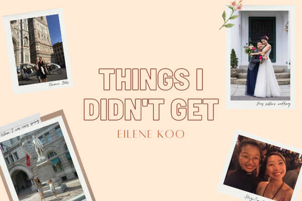 Things I didn't get: June Koo