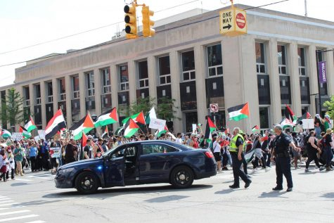 Ann Arbor holds organized pro-Palestinian protest