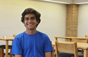 Noah Taeckens, who recently moved here from New York, is part of Hurons JV tennis team.