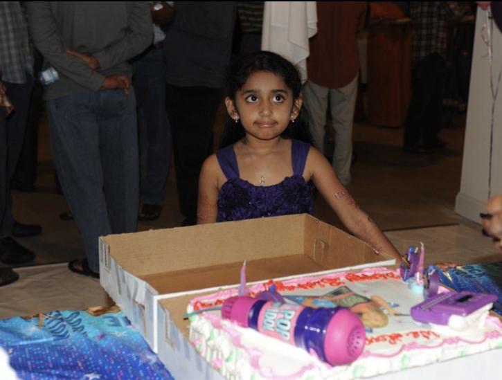 Ridhima Kodali at her 7th Hannah Montana themed birthday party.